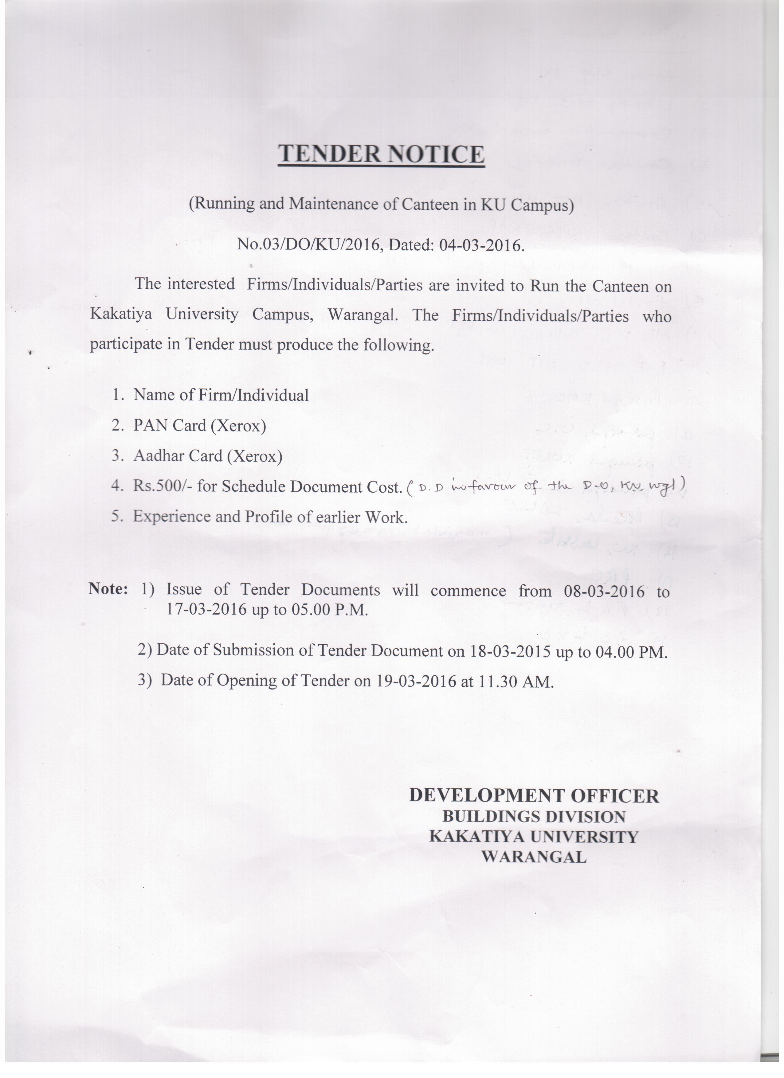 Kakatiya University, Warangal-506009, Telangana, India
