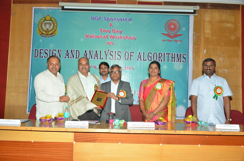 UGC Sponsored 2 Day National Workshop on Design and Analysis of Algorithms (29 & 30 Dec., 2017), Organized by Dept. of Computer Science, KU