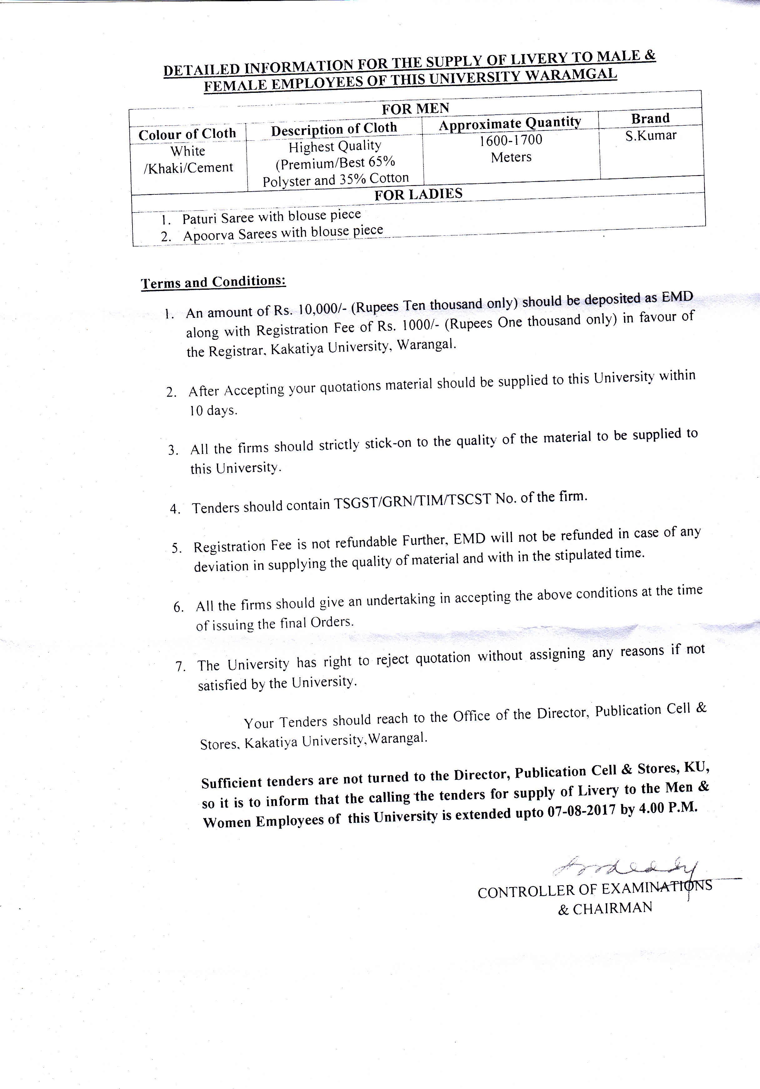 Kakatiya University Warangal Telangana India